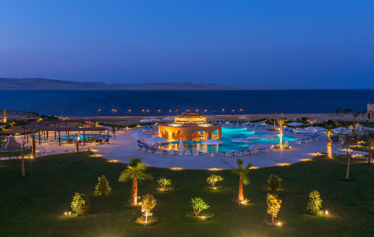Night View at Byoum Lakeside Hotel
