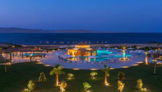 Byoum Lakeside Hotel Fayoum View at Night