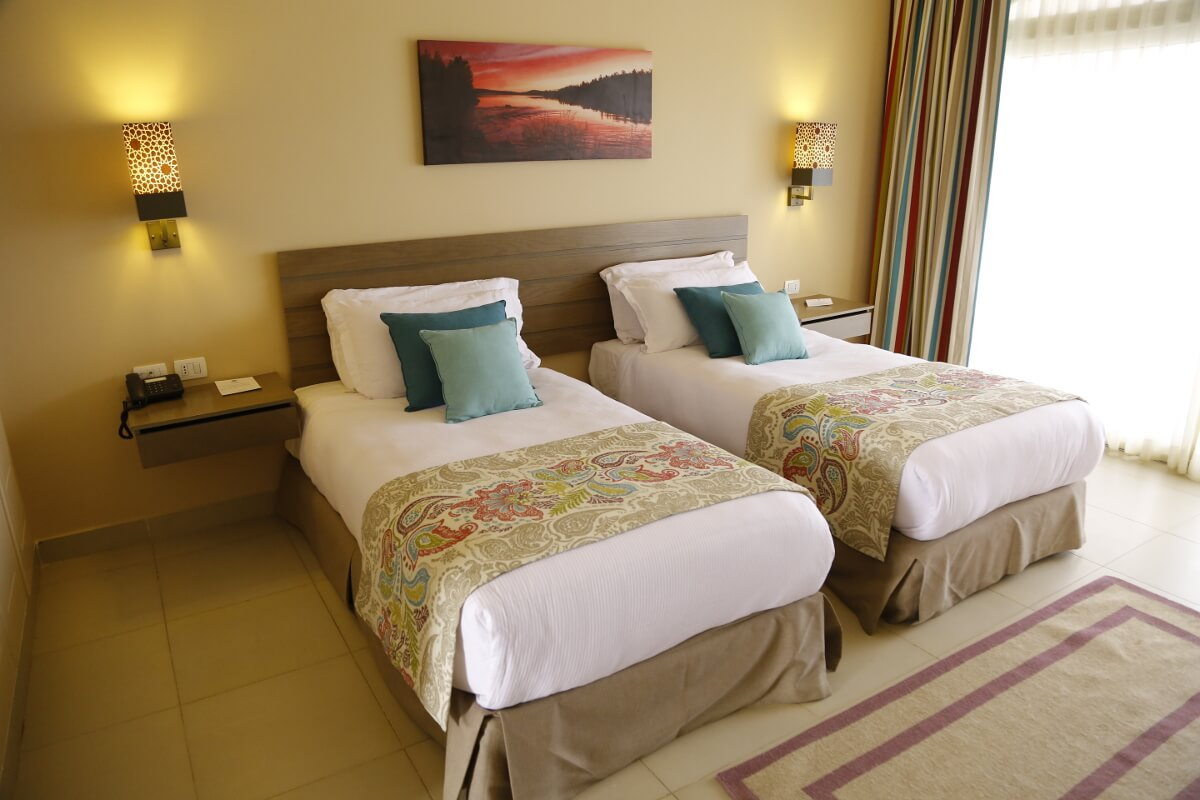 Deluxe Room Twin bed at Byoum Lakeside Hotel In Al Fayoum